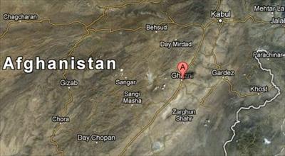 ghazni-afghanistan-map