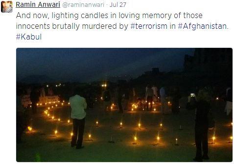 Ramin Anwari - Candle light vigil for Ghor victims