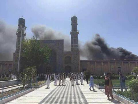 bomb blast at great mosque in Herat June 6, 2017
