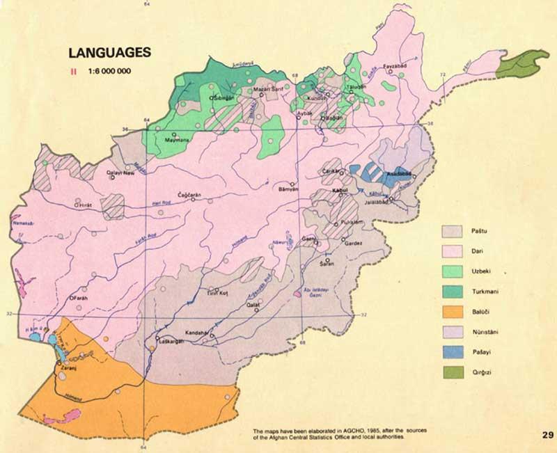 Language Breakdown of Ethnicities in Afghanistan