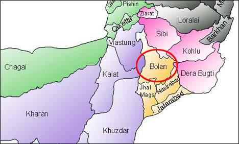 Bolochistan-map-by-district